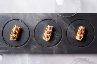 65.-Smoked-Canapes-in-Individual-Cloches-Dish-Catering