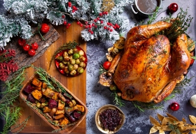 71.-Christmas-Turkey-with-all-the-trimmings-roast-potatoes-brussel-sprouts-cranberry-sauce-gravy-roasted-garlic