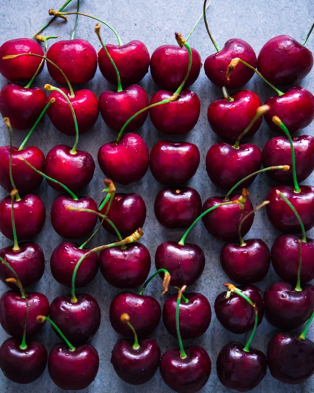 Cherries Fruit Gradient Art Dubai Food Photography
